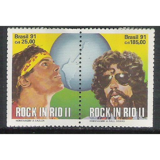 1991 - C-1719-20 - Festival Rock in Rio II - Cazuza e Raul Seixas. Música.