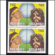 1991 - C-1719-20 (duplo) - Festival Rock in Rio II - Cazuza e Raul Seixas. Música.
