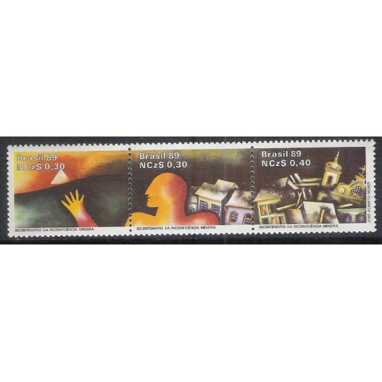 1989 - C-1627-29 - Bicentenário da Inconfidência Mineira.