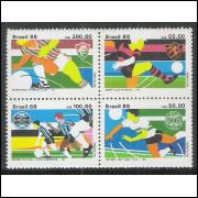 1988 - C-1596-99 - Clubes de Futebol: Fluminense-Sport Clube Recife-Grêmio-Coritiba. Copa Brasil.