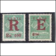 V-4/5 Brasil - 1928 - Varig, selos para Registro e Expresso, novos , sem goma.