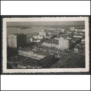 pa05 - Cartão postal antigo (1952), Vista Parcial de Porto Alegre.