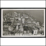 pa06 - Cartão postal antigo, Vista Aérea parcial, Porto Alegre. Foto Postal Colombo.