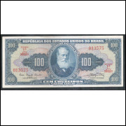 C034 - 100 Cruzeiros 1961 Valor Legal, Carlos Augusto Carrilho - Clemente Mariani s/fe. D. Pedro II.