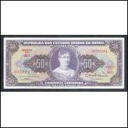 C093 - 50 Cruzeiros 1963 estampa 2a Valor Legal, fe. Princesa Isabel.