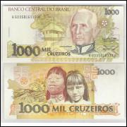 C218 - 1.000 Cruzeiros, 1991, Marcílio M. Moreira e Francisco Gross, sob. Carlos Gomes.