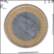 2002 - 1 Real, Juscelino, reverso quase invertido, mbc