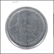 1995 - 10 Centavos, FAO, soberba (s), aço. Comemorativa.