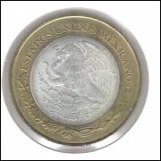 México, 20 Novos Pesos, 1994, bimetálica, centro de prata .925, 16,7 g , 32 mm