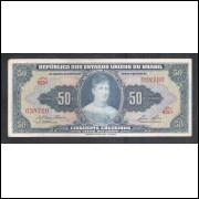 C027 - 50 Cruzeiros, 1959, Valor Recebido, Affonso Almiro - Lucas Lopes, mbc. Princesa Isabel.