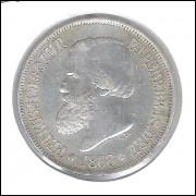 1868 - 500 Réis,  prata, soberba, Brasil-Império, Dom Pedro II.