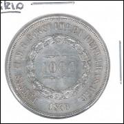 1859 - 1000 Réis, prata, soberba, Brasil-Império, Dom Pedro II.