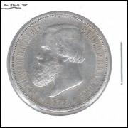1876 - 1000 Réis, prata, soberba, Brasil-Império, Dom Pedro II.