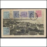 pa10 - Cartão postal, circulado em 1922, Praia de Bellas - Porto Alegre.Editores Krahe - Cia.