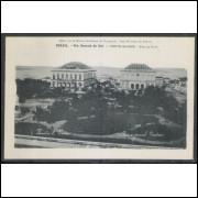 pa12 - Cartão postal antigo, Porto. Theatro S. Pedro e Praça General Deodoro. - Porto Alegre.