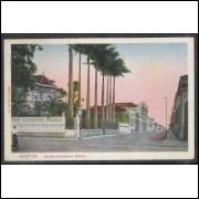 SN02 - Cartão postal antigo, Santos, Avenida Conselheiro Nebias.