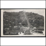 SN04 - Cartão postal antigo (1953), Santos, Monte Serrat
