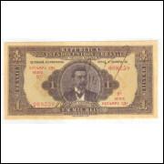 R080 Brasil 1 Mil Réis Thesouro Nacional 13a estampa 1923 FE - David Campista.