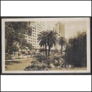 SP25 - Cartão Postal antigo (1955),  33 - São Paulo, Praça da República. Foto Postal Colombo.