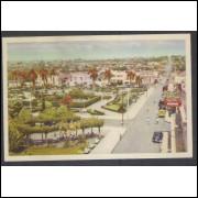 BR01 - Cartão Postal antigo, Barretos, Jardim Público,carros. Ed. Casa Tedesco- A Casa do Maquininha
