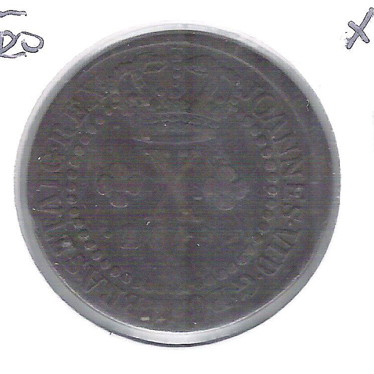 1819 R - X Réis, cobre, Brasil-Reino Unido, D. João VI, mbc, 25 mm