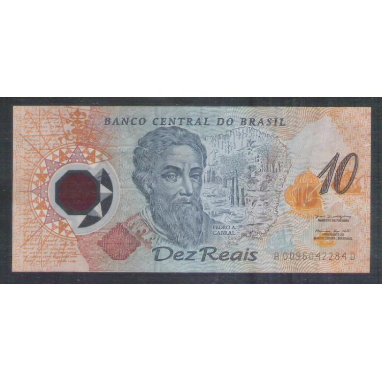 C331- 10 Reais, 2000, polímero, Pedro A. Cabral, soberba, comemorativa dos 500 anos