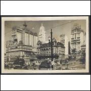 SP43 - Cartão Postal antigo, Anhangabaú, São Paulo.