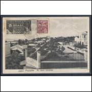 jp06 - Cartão postal antigo, circulado 1932, Avenida General Osório. João Pessoa.