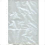 *Folha de polipropileno para 3 cédulas, furação universal. (10 unidades)