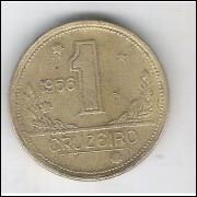 1956 - 1 Cruzeiro, bronze-alumínio, MBC.