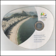 2012 - 1 Real, Comemorativa Entrega da Bandeira Olímpica - no blister.