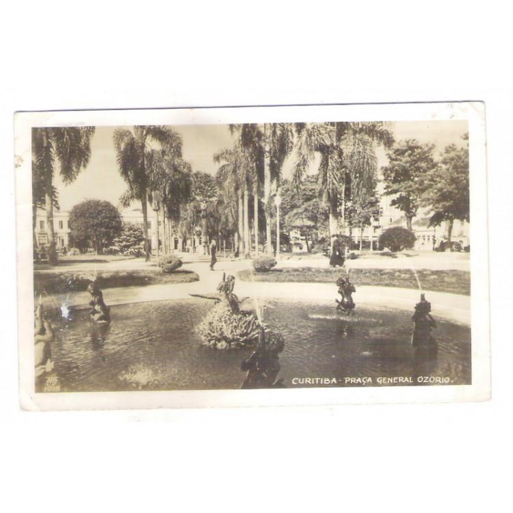 Foto Postal, Curitiba - Praça General Osório, ano 1949
