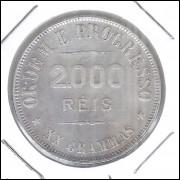 1907 - 2000 Réis, prata, soberba, Brasil-República.
