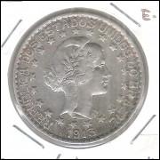 1913 - 2000 Réis, prata, soberba, estrelas soltas Brasil-República.