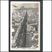 Cartão Postal, anos 30, chegada do Zeppelin no Rio de Janeiro