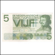Holanda - (P.90) 5 Gulden, 1966, FE.