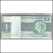 C131 - 1 Cruzeiro, 1975, Estampa B, LOTE DE 50 CÉDULAS SEQUENCIAIS FE
