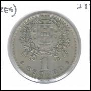 Portugal, 1 Escudo, 1944, cuproniquel, mbc. Cunhada para Açores, km#578