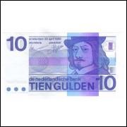 Holanda - (P.91b) 10 Gulden, 1968, FE.