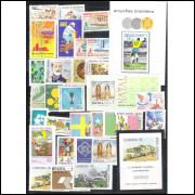 1970 - Coleção dos 28 Selos Comemorativos + 3 Blocos, novos, mint..