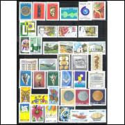 1977 - Coleção dos 57 Selos Comemorativos, novos.