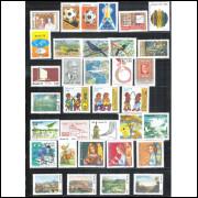 1978 - Coleção dos 50 Selos Comemorativos + 1 bloco, novos.