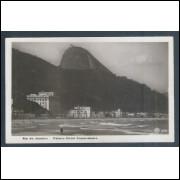 RJ14 - Cartão postal antigo, Palace Hotel Copacabana. Rio de Janeiro.