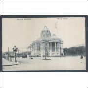 RJ19 - Cartão postal antigo, Palácio Monroe. Rio de Janeiro. A.Ribeiro