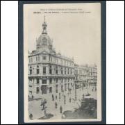 RJ22 - Cartão postal circulado, Avenida Central. Rio de Janeiro. Ed. de la Mission Brésilienne de...