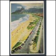 RJ25 - Cartão postal circulado, Ipanema-Leblon. Rio de Janeiro. Tradimex.