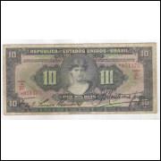 R184 Brasil 10 Mil Réis Caixa de Estabilização 1a estampa 1927 bc/mbc.