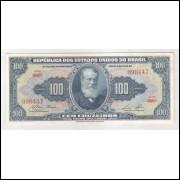 C033 - 100 Cruzeiros, 1959, 1a estampa, soberba, D. Pedro II.