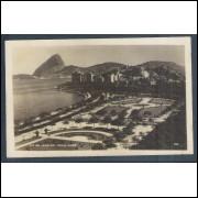 RJ30 - Cartão postal antigo, Praça Paris. Rio de Janeiro.