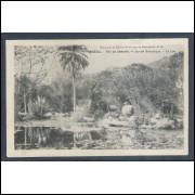 RJ31 - Cartão postal antigo, Jardim Botânico. Lago. Rio de Janeiro. Ed. de la Mission de Propagande.